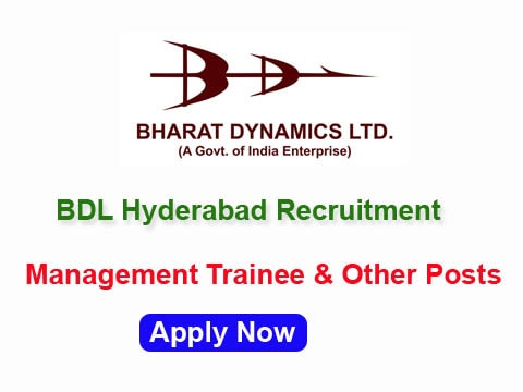 BDL Recruitment 2017 – Apply 41 Dy Manager & Other Posts
