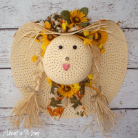 Straw Hat Scarecrow Fall Wreath - About A Mom