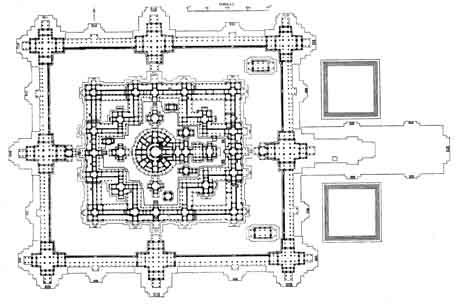Bayon Temple Map, Siem Reap