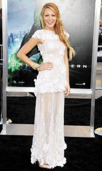 Blake Lively wedding dress, red dress, yellow dress, blue ...