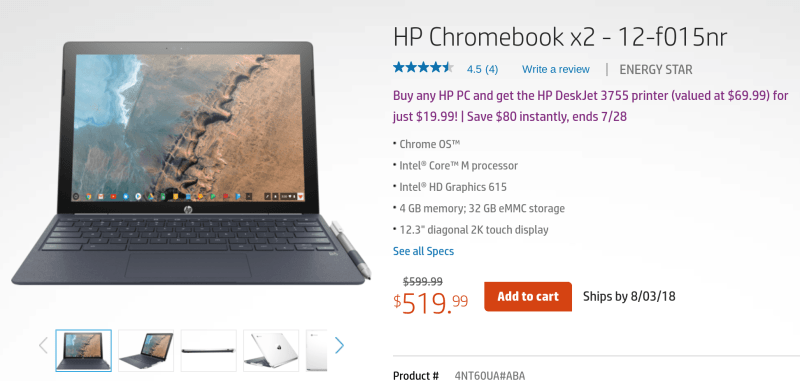 Hp chromebook x2 sale direct