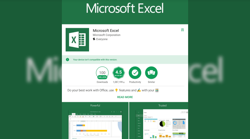 excel compatibility