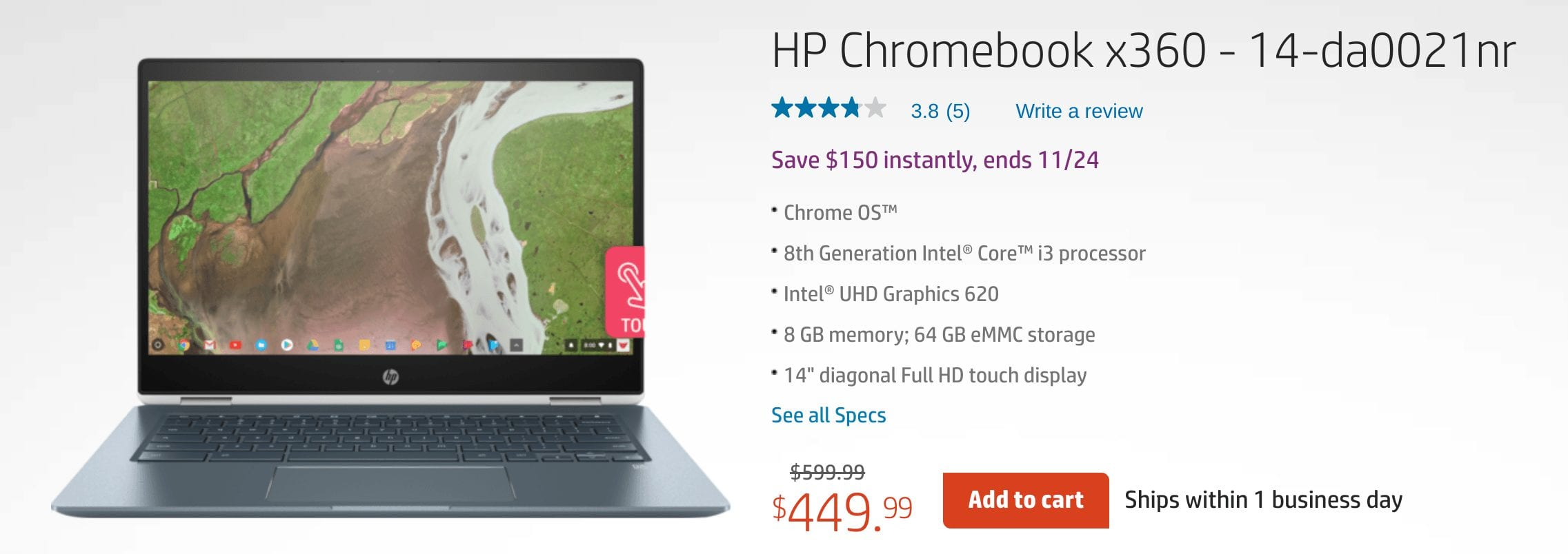 HP Chromebook X360 Black Friday 2018 – About Chromebooks