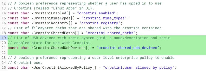 Broader USB device support for Project Crostini takes a big