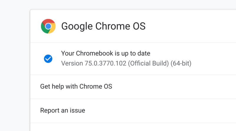 Chrome OS 75 – About Chromebooks