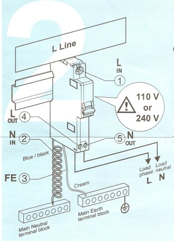 How to wire an RCBO rcbo wiring diagram wiring diagrams wylex rcbo wiring diagram at gsmportal.co