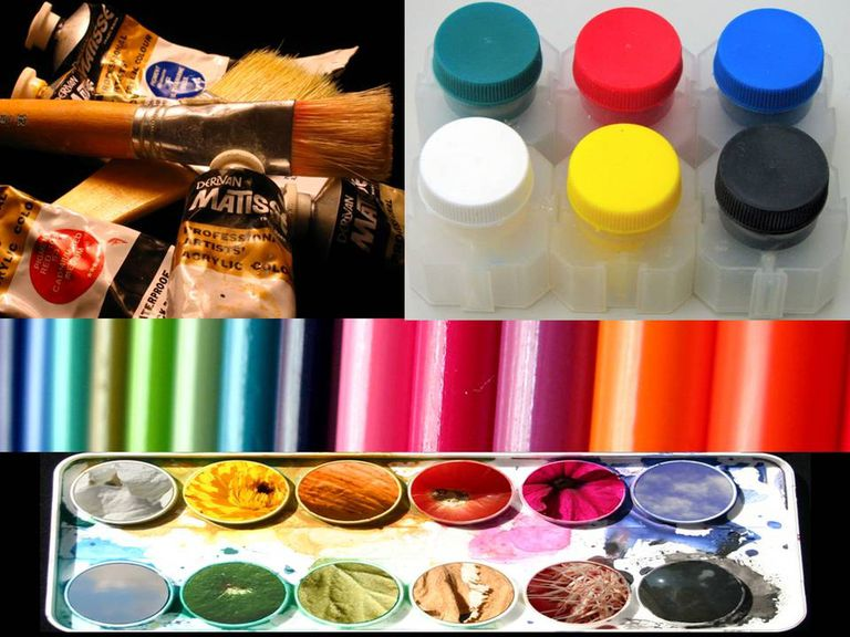 Diferentes tipos de pinturas para manualidades