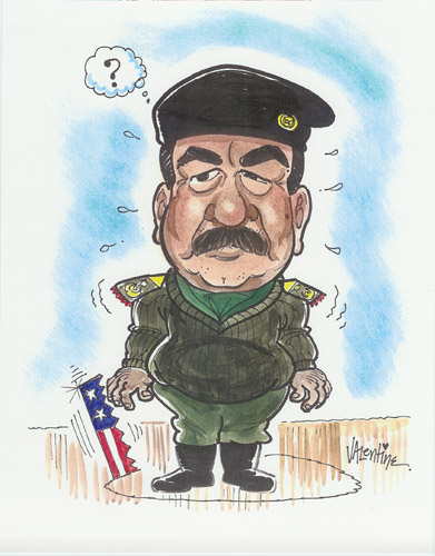 Caricatures Of Saddam Hussein By Artists From About Faces