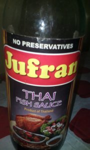 Bottle of Jufran Thai fish sauce