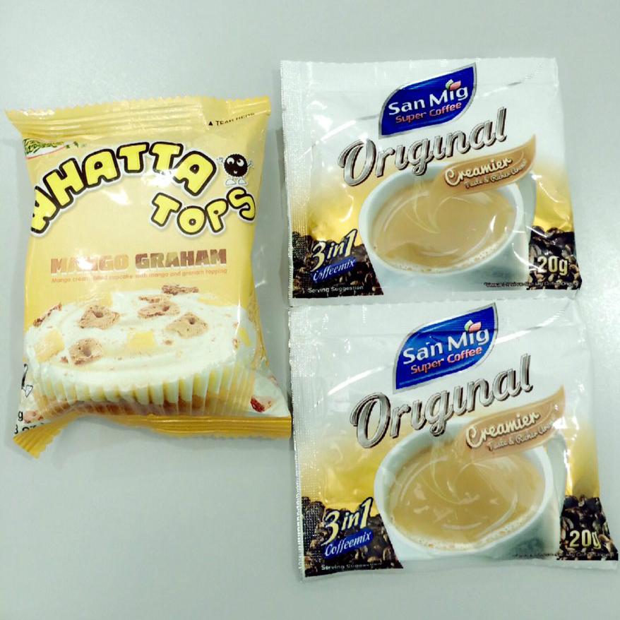 Whatta Tops Mango Graham and San Mig Super Coffeemix