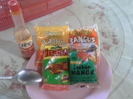 Cheap Filipino Snacks, Bottle of UFC Hot Sauce