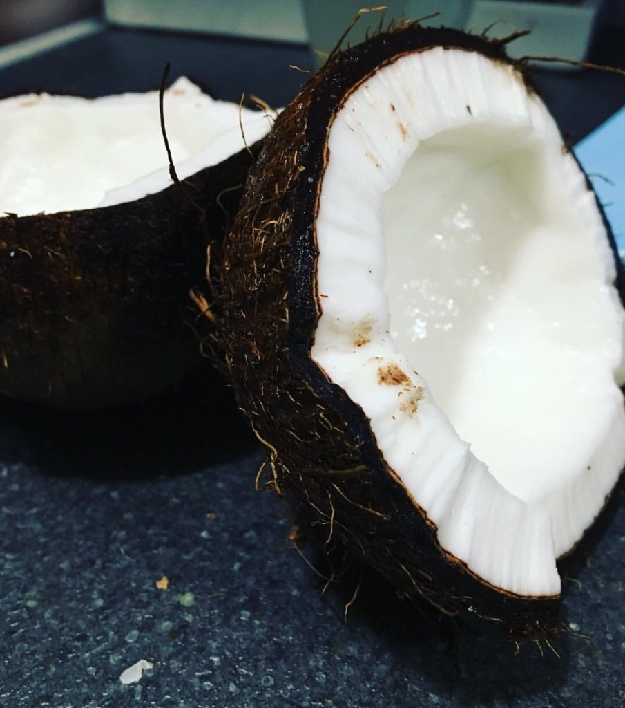 coconut with hard flesh