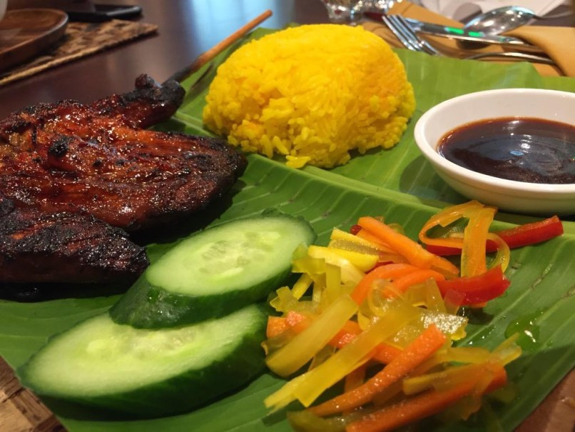 BBQ meal with Java Rice