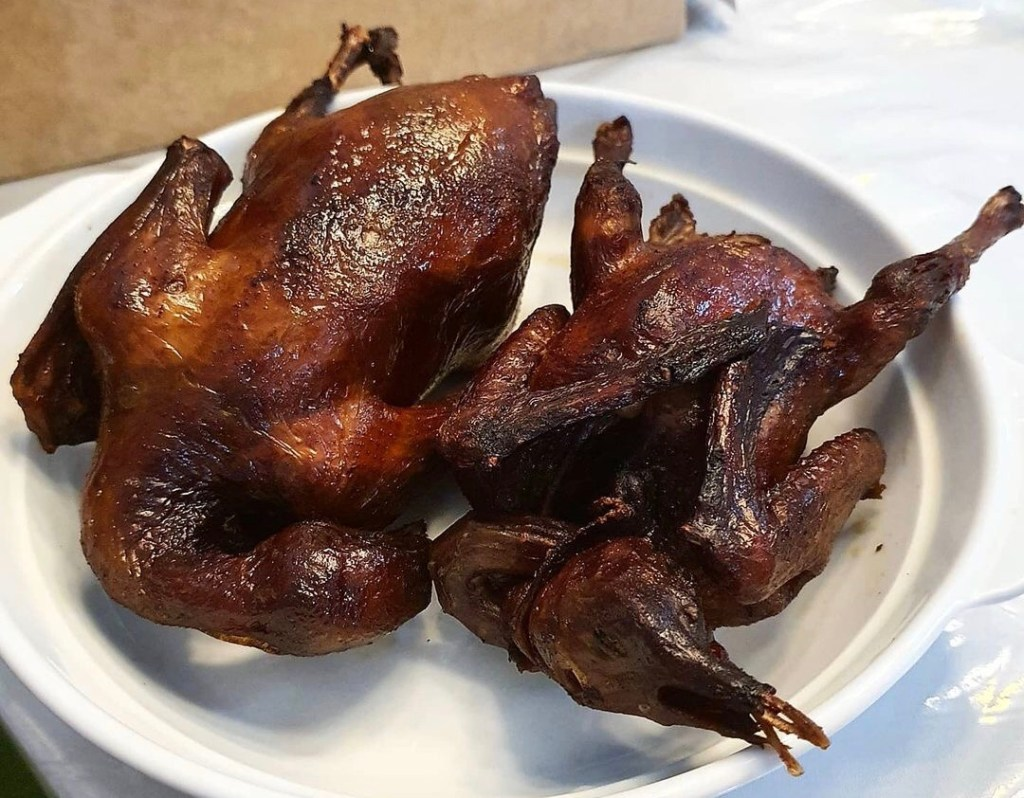 fried pigeons