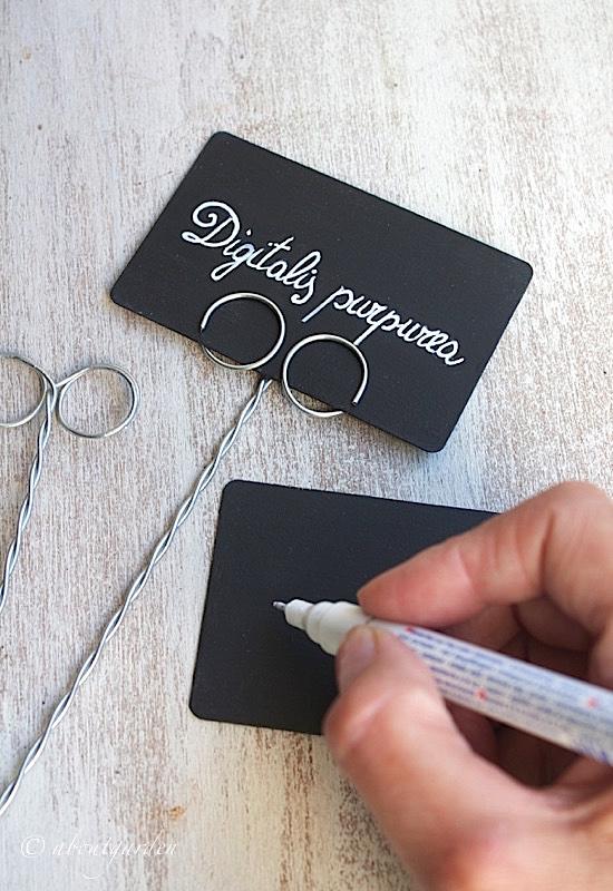 scrittura con pennarello