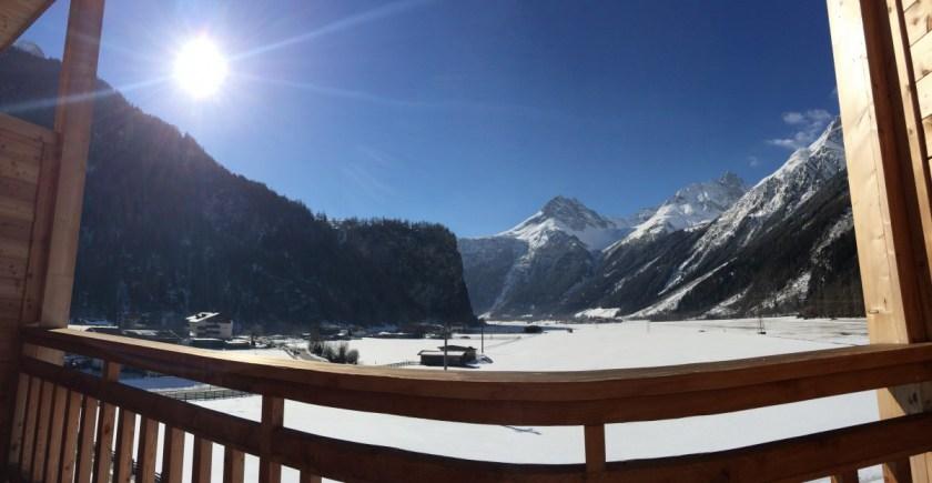 Blick auf den Granatenkogel aus dem Alpin Süd Zimmer 352