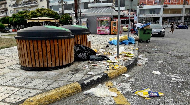 Εικόνες ντροπής και εστία μόλυνσης σε κεντρικότατο σημείο της Καστοριάς – φωτογραφίες