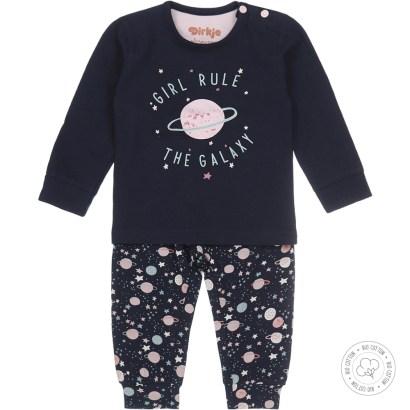 Dirkje pyjama set girl rule the galaxy navy