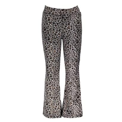 Moodstreet Flared pants AOP Velours