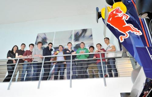 Christian Horner with the Apprentices