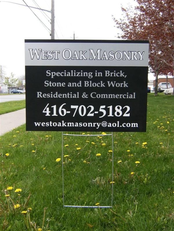 lawn signs burlington oakville