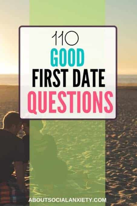 Couple on beach with text overlay - 110 Good First Date Questions