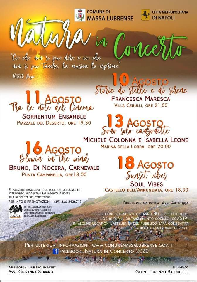 Calendario Eventi Natura in concerto Massa Lubrense