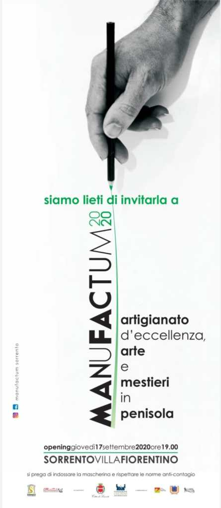 Manufactum 2020 artigianato d'eccellenza, arte e mestieri a Sorrento