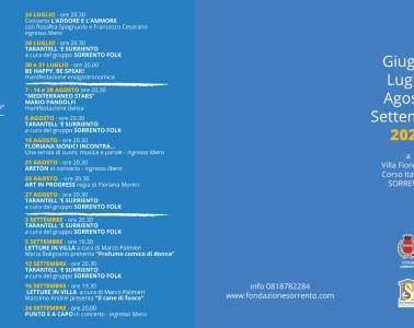 Eventi-estate-2021-Sorrento---calendario-Villa-Fiorentino-Summer-Time