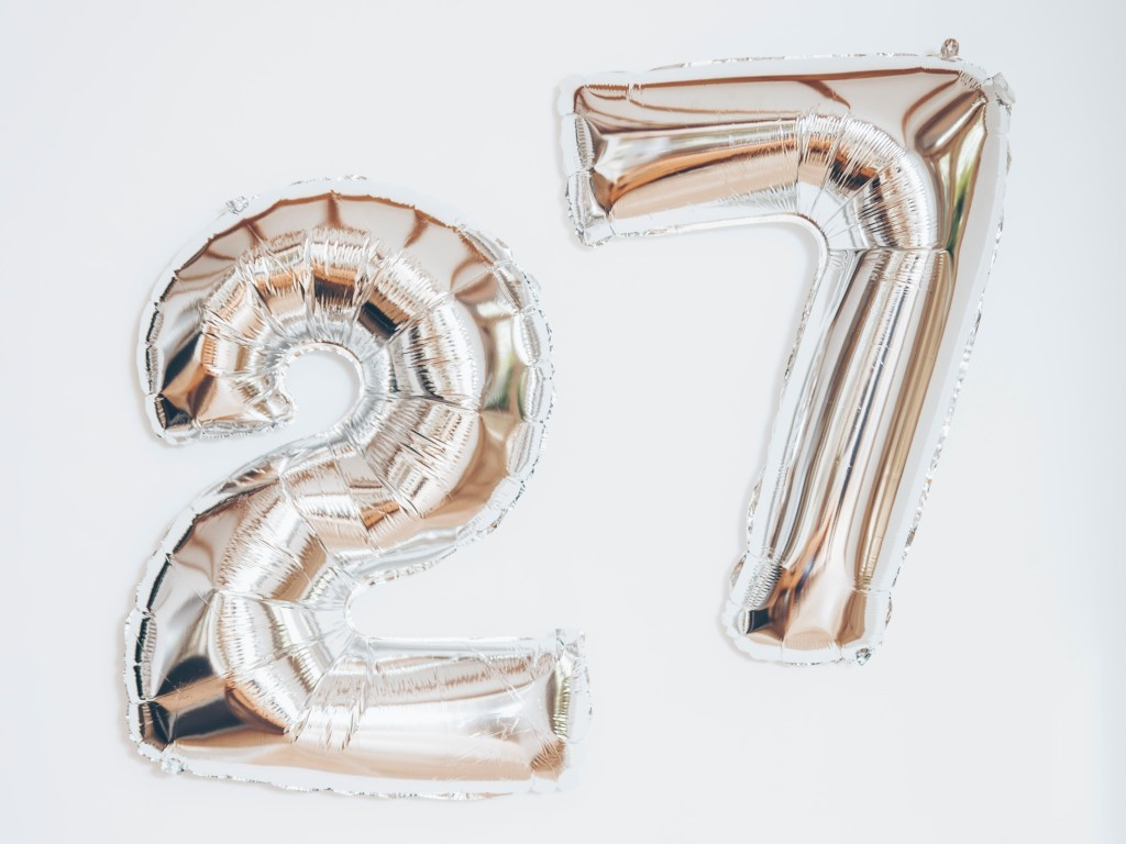 27 things I learned in 27 years