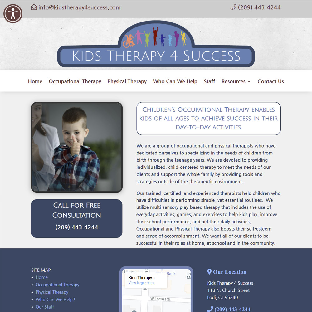 KidsTherapy4Success Web page