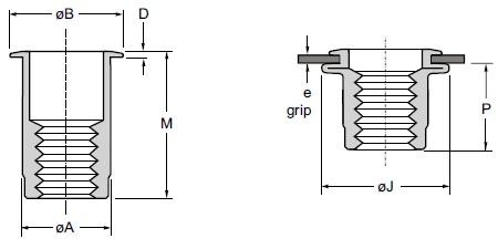 DLA-1015-7.9 DL INS M10 LF AL