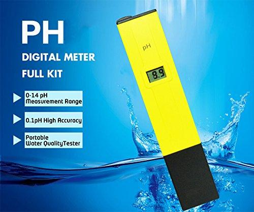 Digital PH Meter Full Kit,Portable Handheld Water Quality, Swimming Pool,Aquarium  Tester PH Test Pen [0 14 Ph Measurement Range] [0.1ph High Accuracy] [2 PH  ...