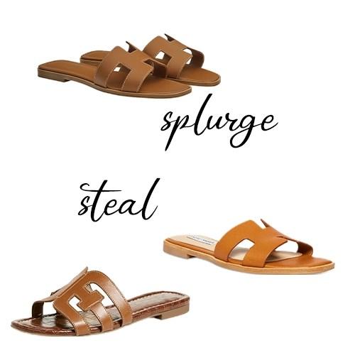 Designer Inspired Hermes Oran sandals