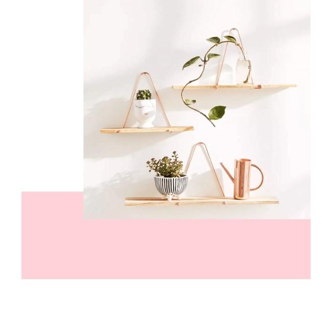 Boho home wall shelves