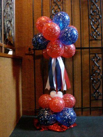 Patriotic puff balls
