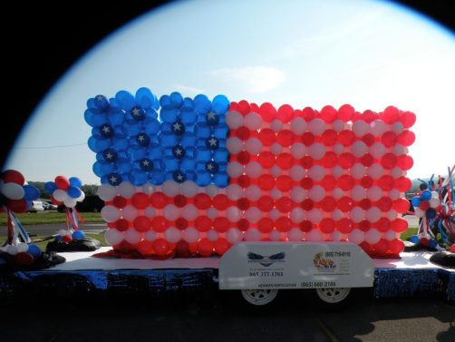 Show patriotism on July 4 with a giant flag float