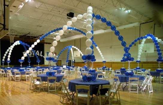 Transform a plain gym into an exciting venue for awards