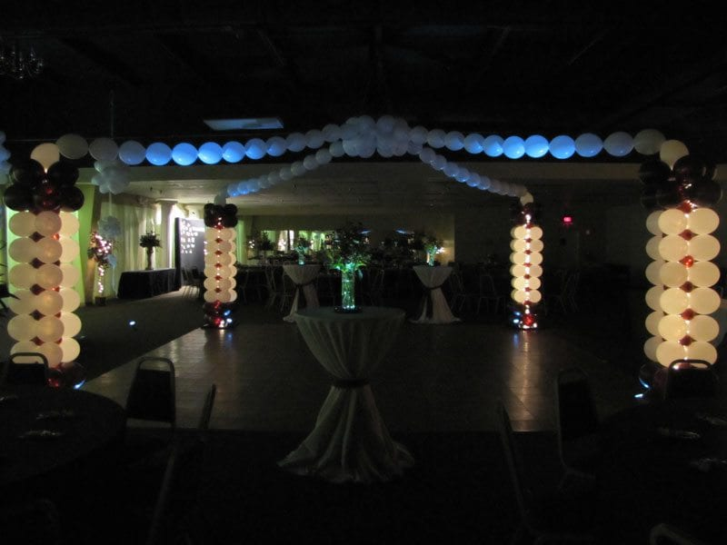 Dance floor dance canopy knoxville decor party decor for Balloon dance floor decoration