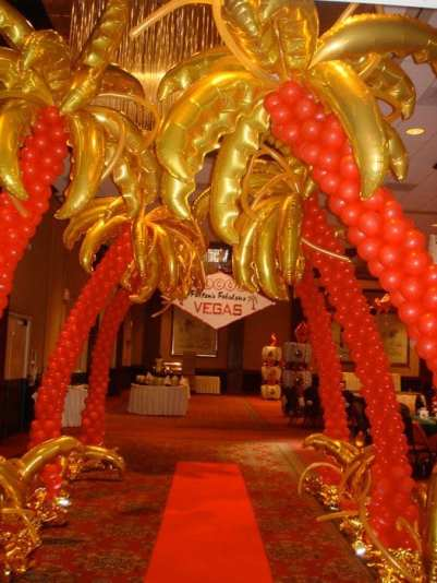 Grand entrance decor in your theme sets a mood of anticipation