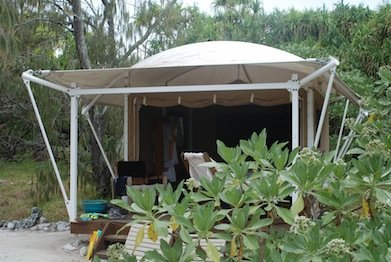 Our tent, Wilson Island (1)