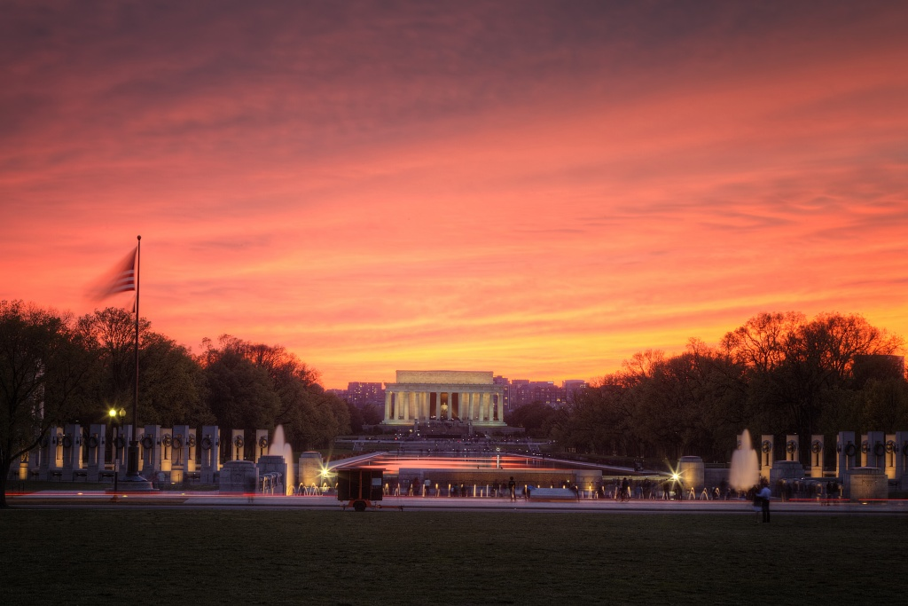 Car Hdr Wallpaper Lincoln Memorial At Sunset In Washington Dc