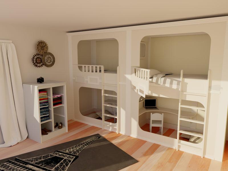 Le catalogue 3D des lits cabanes  Lit cabane en bois pour enfant  abramacabane