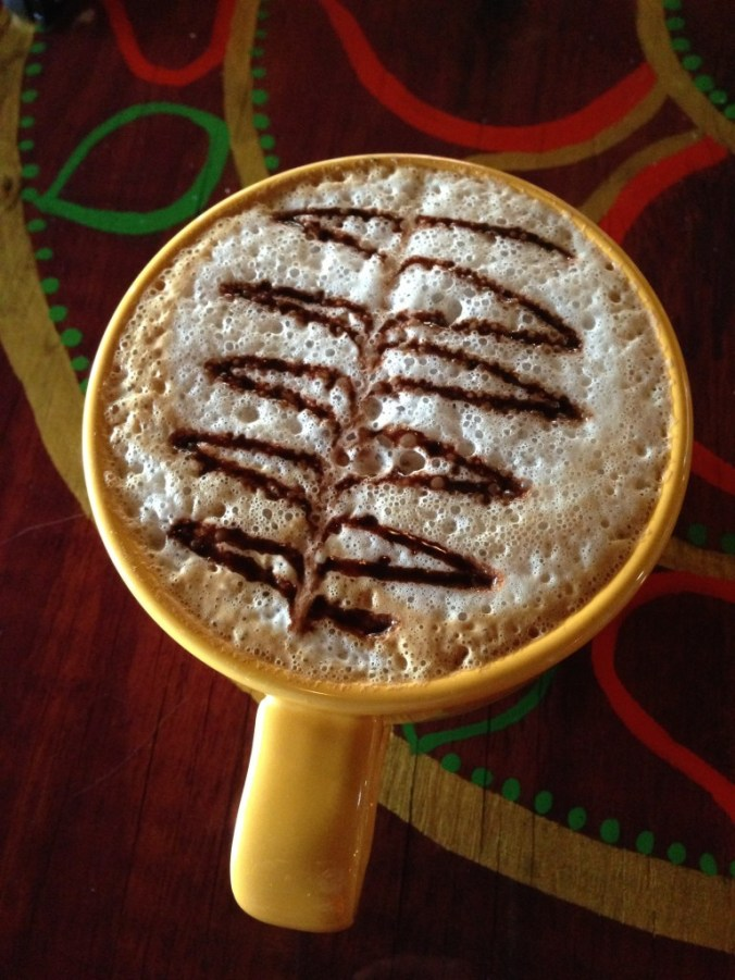 vegan almond joy latte