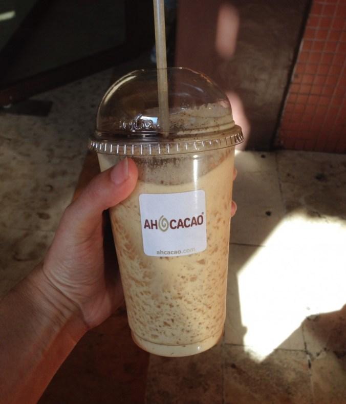 ah cacao espresso frappe playa del carmen
