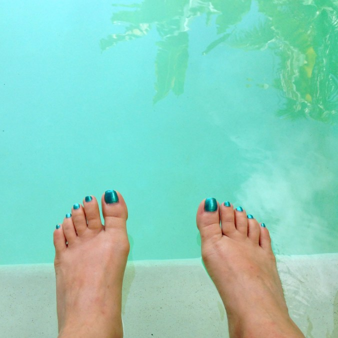 obligatory summer toes and pool