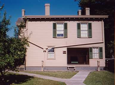 Back View of Abraham Lincolns Home