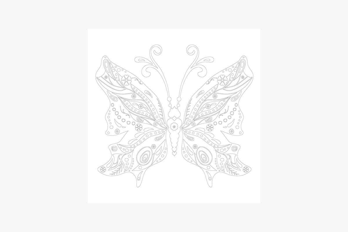 Vive Le Color Butterflies Adult Coloring Book