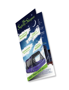 brochure for The Safety Sleeper