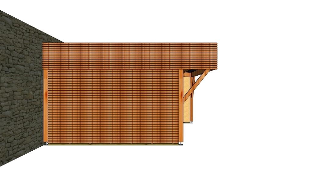 carport bois 1 pente